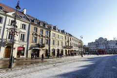 The historical Royal Route in downtown of Warsaw Stock Photography