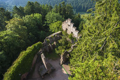 The historical ruined of castle Zavelstein Stock Photos