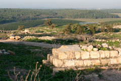 Historical ruins in Israel Royalty Free Stock Image