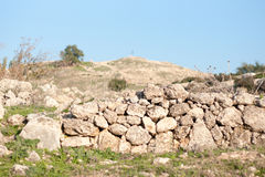 Historical ruins in Israel Stock Photos