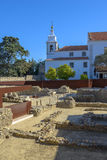 Historical Ruins in Lisbon Stock Photography
