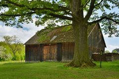 Historical Rural Building. In South Bohemia, Czech Republic (2013 Royalty Free Stock Images