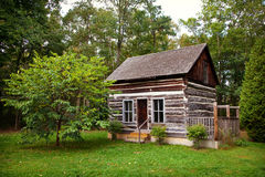 Historical Rustic Pioneer Log Cabin House Ontario Canada Stock Photos