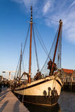 Historical sailing ship. Historical freightship in the harbor of Zierikzee, south holland Stock Photo