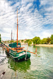 Historical Sailing ship on Seine in Paris, France Royalty Free Stock Image
