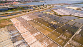 Historical salt pans in Aveiro, Portugal Royalty Free Stock Image