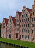 Historical salt store houses in Luebeck Stock Photo