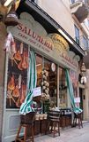 Historical Salumeria with Italian meat specialties Royalty Free Stock Image