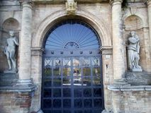 Historical San Pelagio Castle stock photo