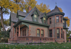 Historical sandstone house in Colorado Stock Image
