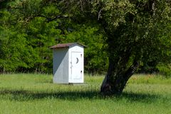 Historical School House Outhouse inSleeping Bear D Stock Photography