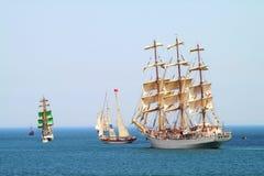 HISTORICAL SEAS TALL SHIPS REGATTA 2010 stock photography