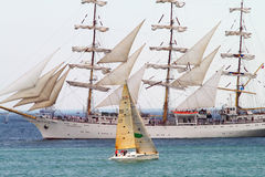 HISTORICAL SEAS TALL SHIPS REGATTA 2010 Royalty Free Stock Image