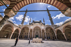 The historical Selimiye mosque by architect Sinan Royalty Free Stock Photo