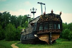 The historical ship - the museum. royalty free stock photo