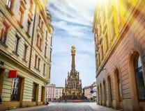 Historical sights of Olomouc in the Czech Republic. European city Stock Photos