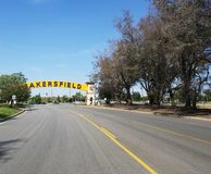 Bakersfield Street Sign royalty free stock photography