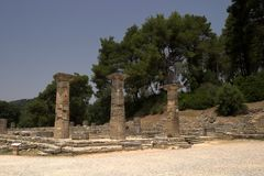 The Historical Site Of Olympia. Where the first games were organized royalty free stock images