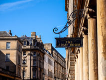 Historical site Roman bath, Somerset, UK Stock Photography