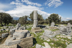 Historical Site In Teos. Turkey Stock Images