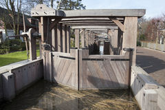 Historical Sluice in Rotterdam Stock Images