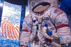 Historical Spaceman Astronaut Spacesuit Museum royalty free stock images