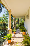 Historical Spanish house and garden at Alfabia Stock Photography