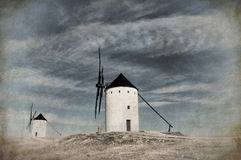 Historical Spanish windmill Stock Photo