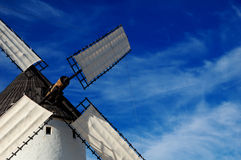 Historical Spanish windmill detail Royalty Free Stock Images