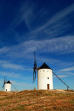 Historical Spanish windmills Stock Images