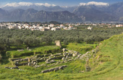 Historical Sparta city in Greece Stock Photo