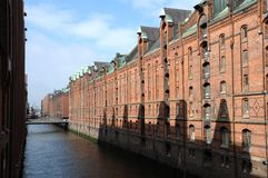 Historical speicherstadt in hamburg Stock Photos