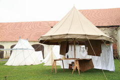 Historical spokes tent Stock Image