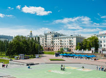 Historical square in the center of Ekaterinburg, Russia Royalty Free Stock Images