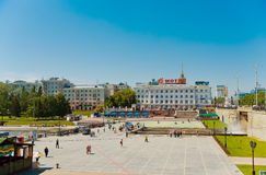 Historical square in the center of Ekaterinburg, Russia Stock Images