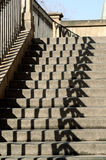 Historical stairs with a game of shadows Royalty Free Stock Images
