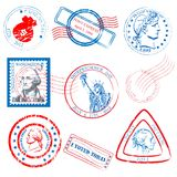 Historical Stamp Collection Set Royalty Free Stock Image