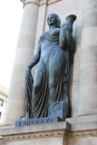 Historical statue, Barcelona Stock Images