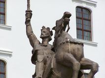 Historical statue at the castle in Bratislava Royalty Free Stock Photos