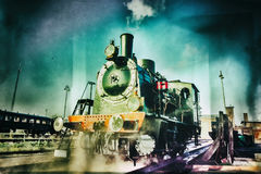 Historical steam engine train Stock Images