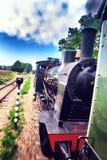 Historical steam engine train Stock Photo
