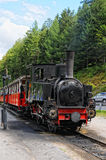 Historical steam locomotive on Achensee lake railroad in tirol Stock Photos