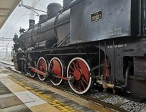 Historical Steam Locomotive stock image