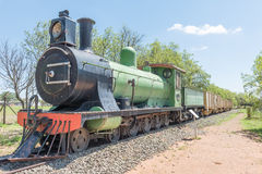 Historical steam train engine at the Womens Memorial Stock Photos