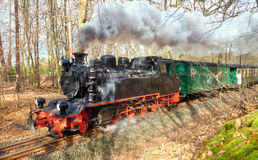 Historical steam train on island Rugen in Germany Royalty Free Stock Photo