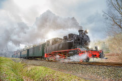 Historical steam train on Rugen in Germany Stock Photo
