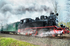 Historical steam train in Rugen, Northern Germany Stock Photos