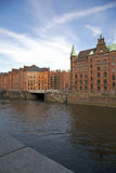 Historical storehouses in Hamburg, Germany Royalty Free Stock Photos