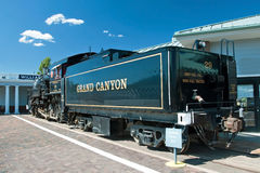 Historical stream locomotive in Grand Canyon National Park Stock Images