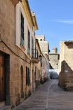 Historical Street in Alcudia Royalty Free Stock Images